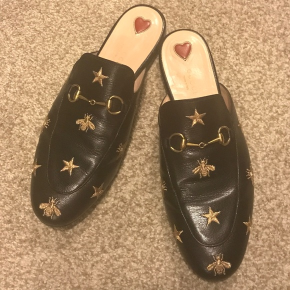 ee4e7597a99 Gucci Shoes - GUCCI PRINCETOWN BEES AND STARS EMBROIDERED MULES